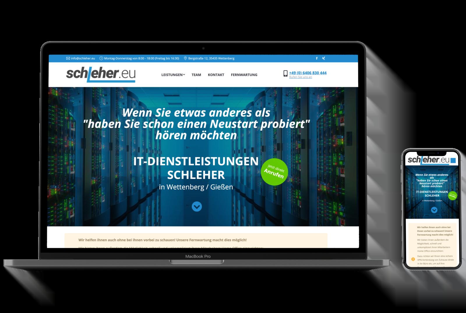 Komplett DSGVO-konforme Webseiten bietet Ihnen Wolf Webentwicklung in Bad Homburg an