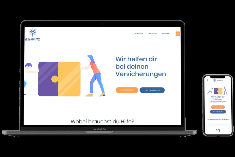 Landingpage oder Webseite fuer Versicherungen in Giessen, Bad Homburg und Heidelberg