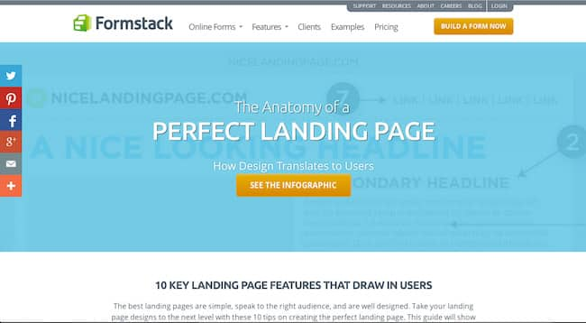 Landingpage example
