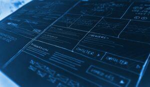 Wireframes Webdesign paper method